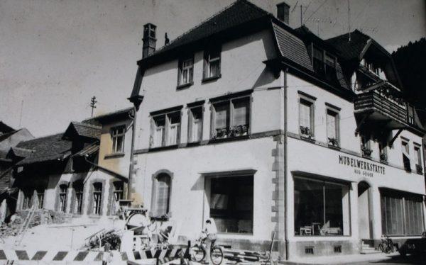 Umbau der Möbelwerkstätte 1960